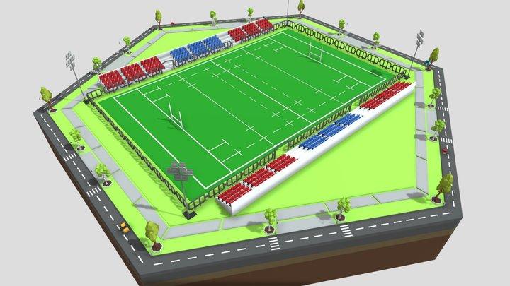 Rugby Stadium 3D Model