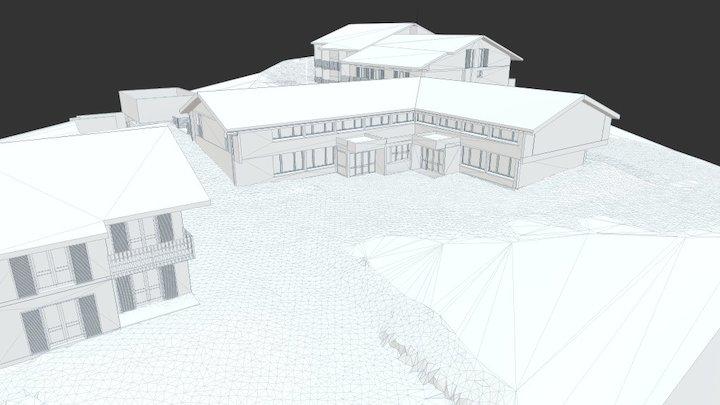 Evian Resort - Hameau Hermitage 3D Model