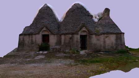 Villaggio Trulli Abbandonati 3D Model