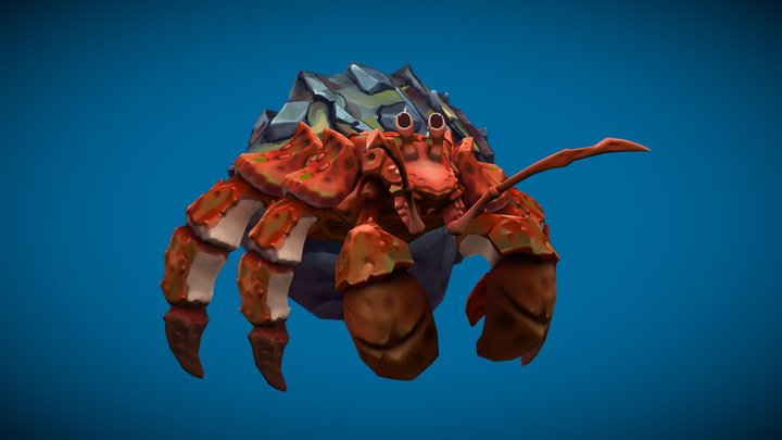 Stylized Fantasy Hermit Crab 3D Model