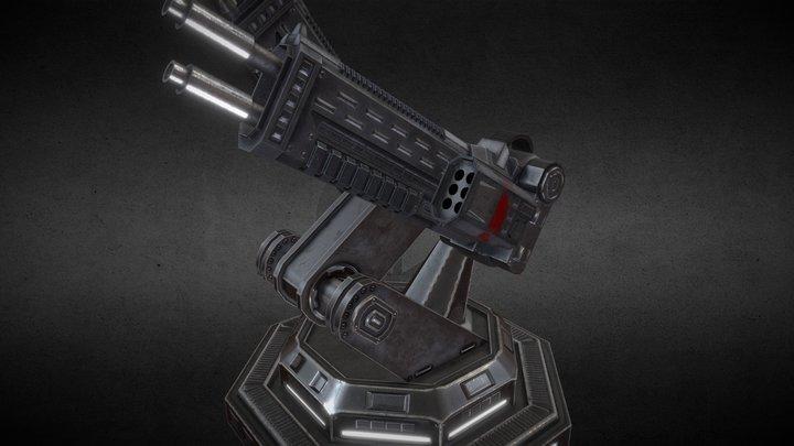 Scifi Turret 3D Model