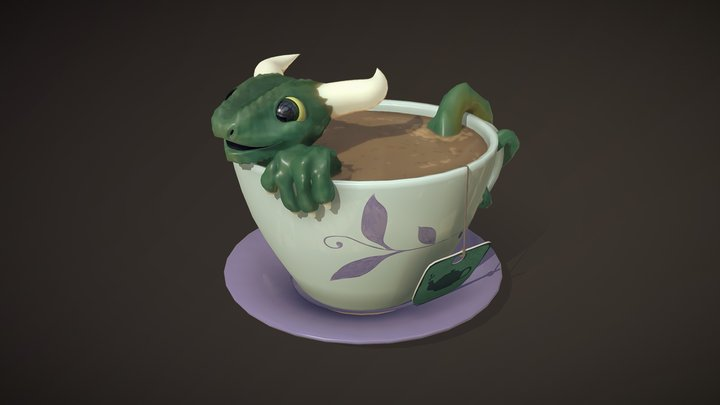 Teacup Dragon 3D Model