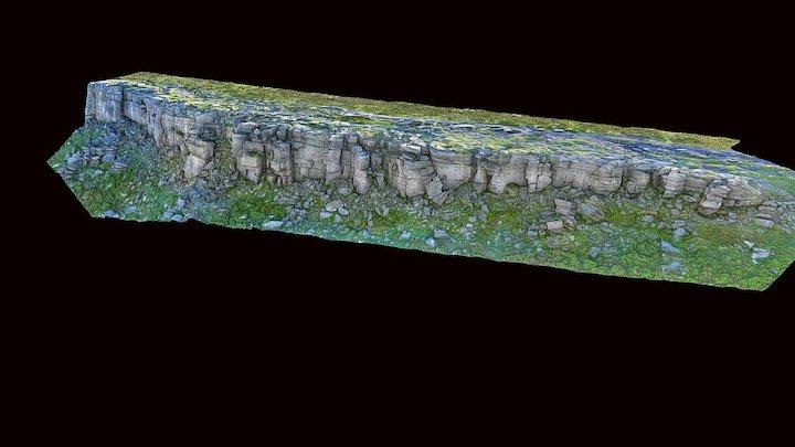 Stanage Edge - medium res 3D Model