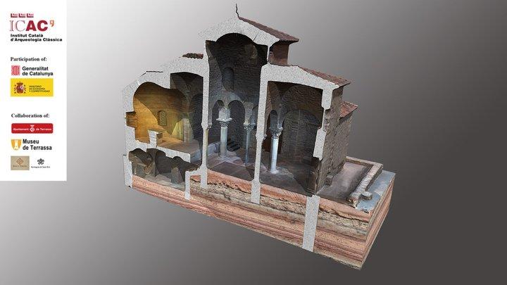 3. Longitudinal section of the church 3D Model