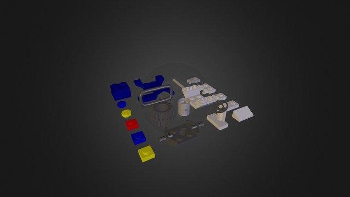 Lego Car Parts 3D Model