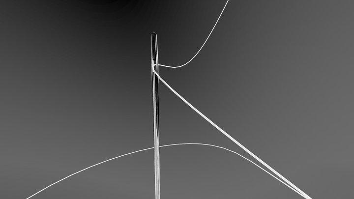 Needle and thread - Inktober 3D Model
