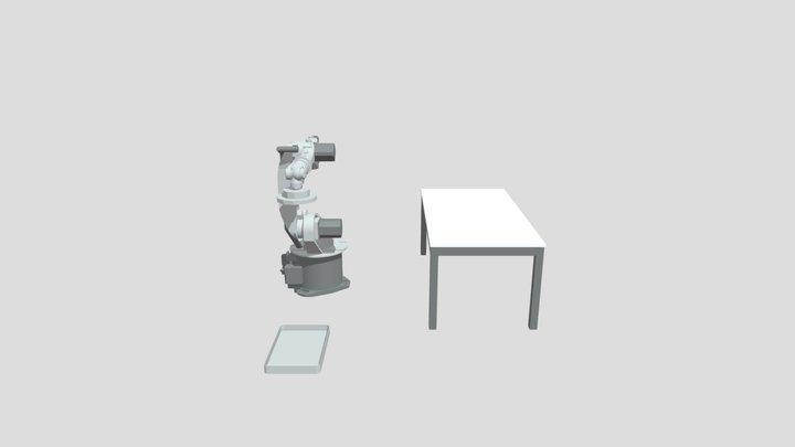 SIM 4 KUKA KR6 Desplazamiento Caja 3D Model