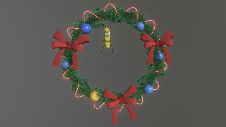 Christmas wreath - XYZ Daily Draft D7 3D Model