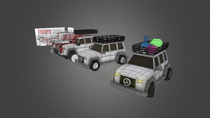 3D0-W06-JeepCar(Side-Modeling) 3D Model