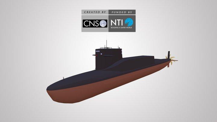 Xia Class SSBN 3D Model