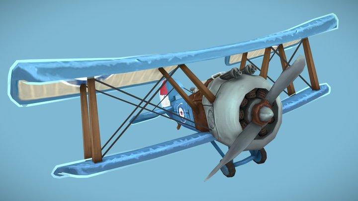 stylized ww1 plane 3D Model