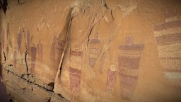 The Great Gallery Rock Art Panel, Utah 3D Model