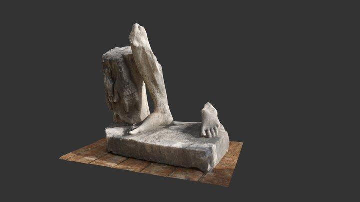 Part of Roman statue (Baths of Diocletian, Rome) 3D Model