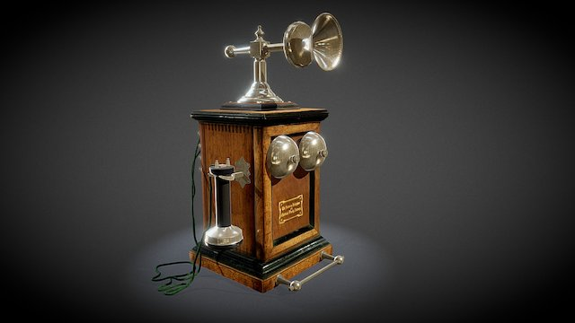 Telephone 1880 year 3D Model