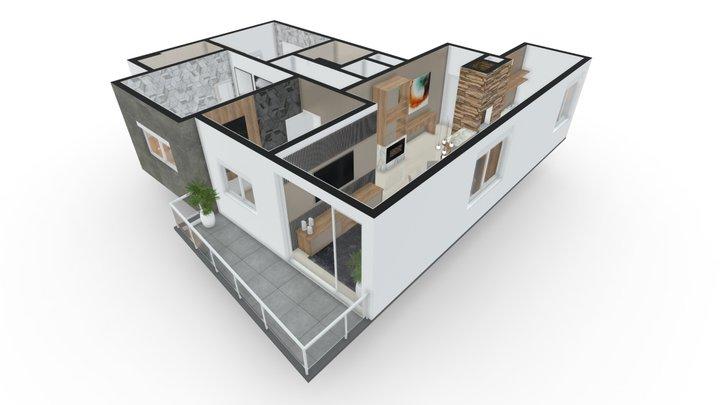 Atrium Residencial | Apto 01 3D Model