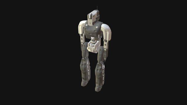 Cubic Robot 3D Model