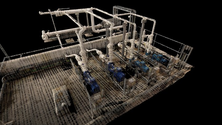 Pump Slab Oil & Gas 3D Model