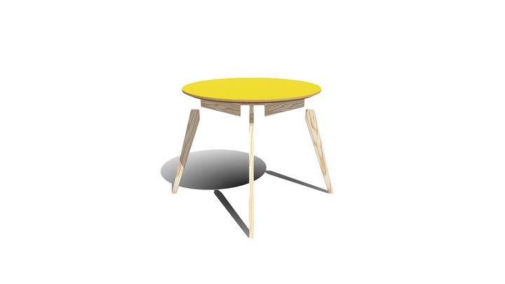Table Circulaire - Vue en éclaté 3D Model