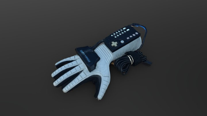 Nintendo Power Glove NES (photogrammetry) 3D Model