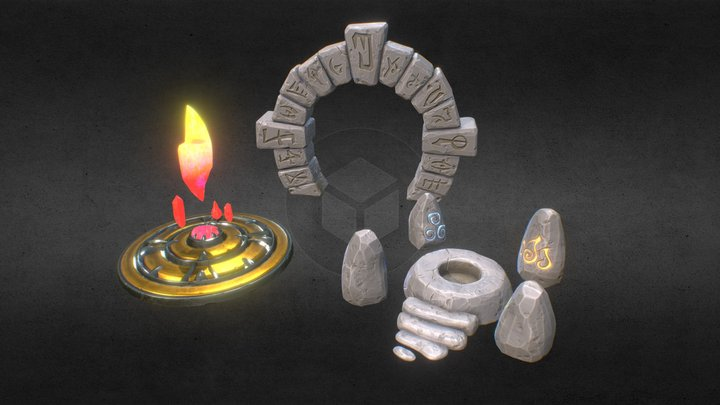Shrines And Portal Volume 1 3D Model