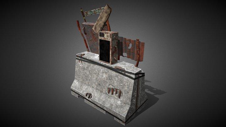 PostApo Barricade 3D Model