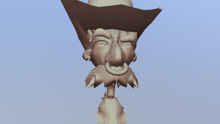Cow Boy 3D Model