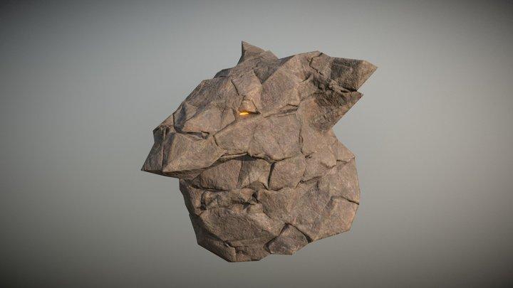 Rock Houdini Pig. 3D Model