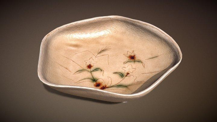 黄瀬戸変形鉢 (Kiseto Style Deformed Bowl) 3D Model