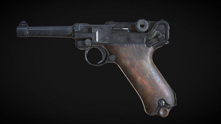 Luger P08 3D Model