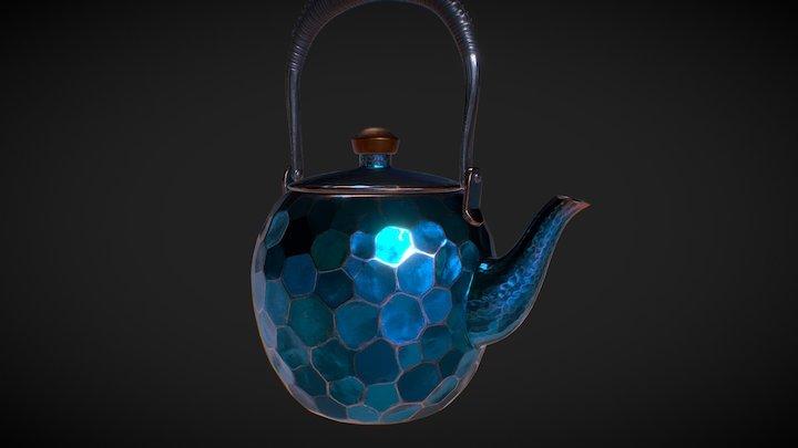 Japanese copper teapot 3D Model