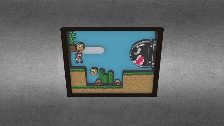 Super Mario Scene 3D 3D Model