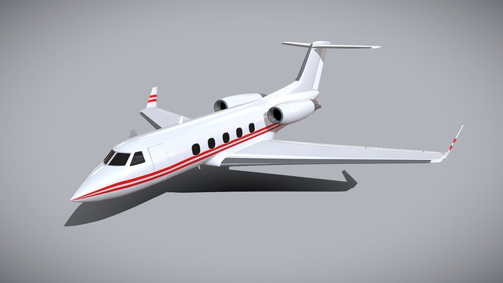 Gulfstream Aerospace G-1159A business jet 3D Model