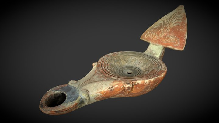 Lucerna romana 3D Model