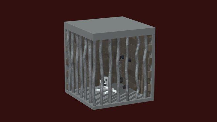 Isometric Jail Cell 3D Model