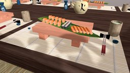Japanese Tea Party Done 3D Model