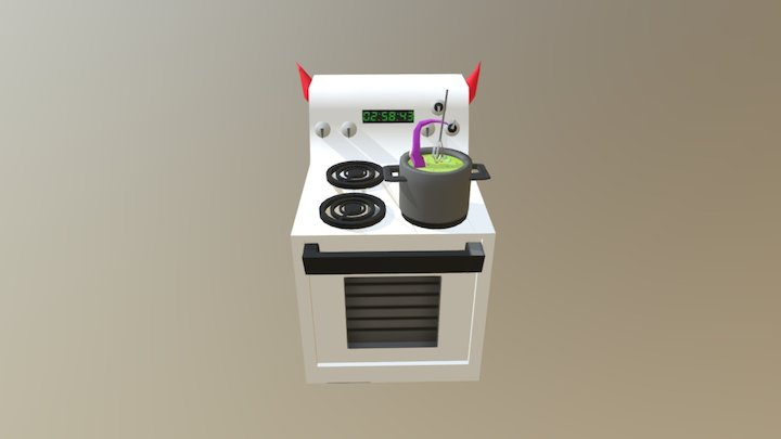 Monster Kitchen 3D Model