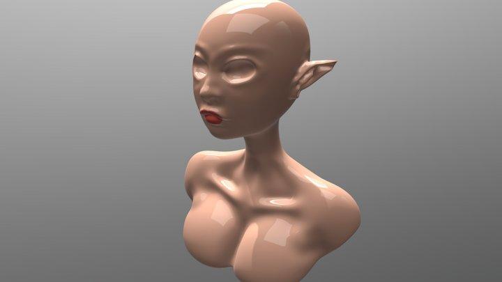 Elf Girl ( WIP ) 3D Model