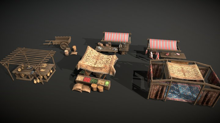 ancient Market 3D Model