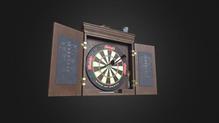Sports Bar Dart Board 3D Model