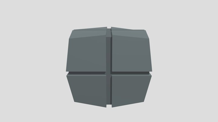 Low-Poly Hoth Box 02 3D Model