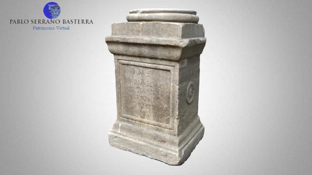 Altar votivo en el Museo Arqueológico de Nápoles 3D Model