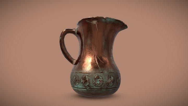 Medieval Copper Jar 3D Model