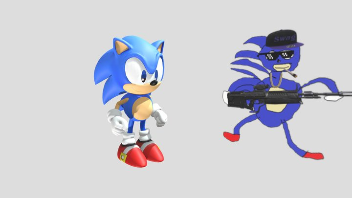 Sonic the Hedgehog  (ohh, and sanic) 3D Model