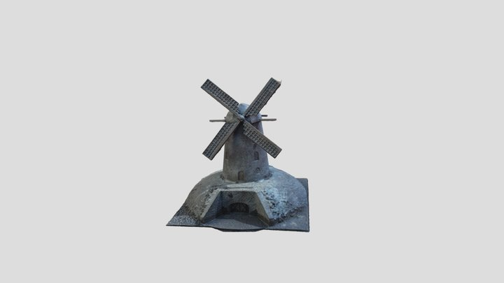 Sculpture of the Immerather mill. 3D Model