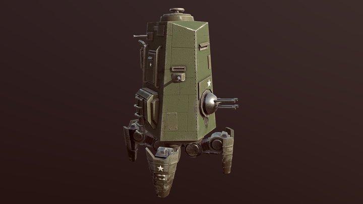 A23 Weaver Tank 3D Model