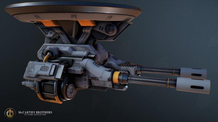 Heavy Gatling Turret 3D Model