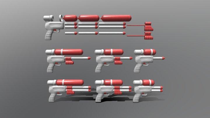 Modular Water Pistol 3D Model