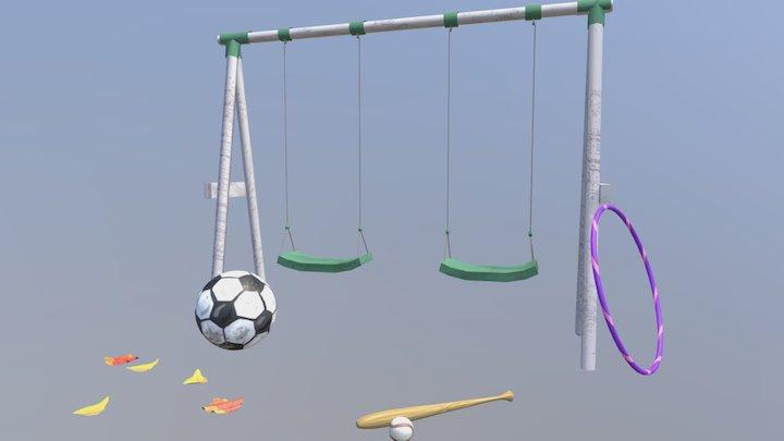 Backyard Items 3D Model