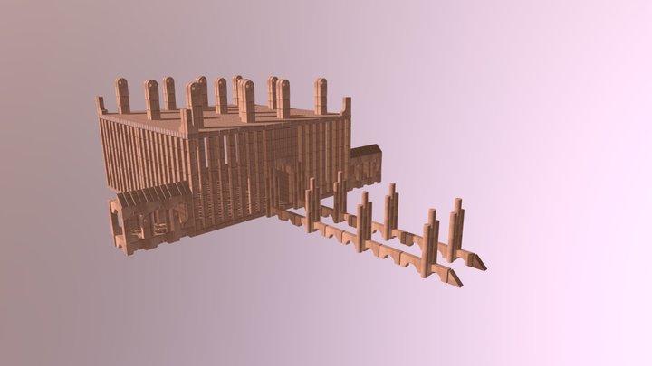 Unit Blocks Castle 3D Model