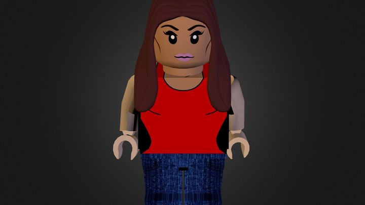 Lego character Georgina 3D Model